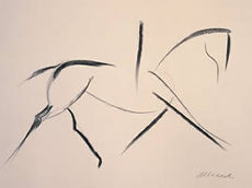 'Simple Line Drawing'. Original- SOLD. Giclee Prints Available. See 'Gallery' below.