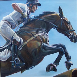 Xc Study- SOLD. See 'Gallery' below for more examples or 'Commissions' page to have one of your own painted.